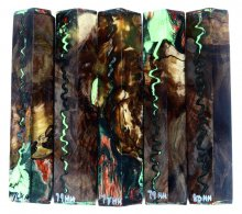 Walnut Burl Hybrid Pen Blanks #76-80HH