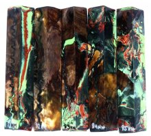 Walnut Burl Hybrid Pen Blanks #81-85HH