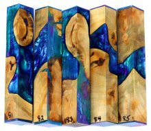 Willow Root Burl Hybrid Pen Blanks #81-85PP
