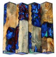 Willow Root Burl Hybrid Pen Blanks #86-89PP