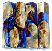 Willow Root Burl Hybrid Pen Blanks #90-93PP