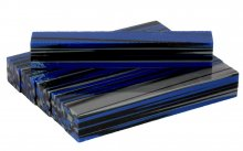Strata Gem Acrylic Pen Blank - Slated Blue