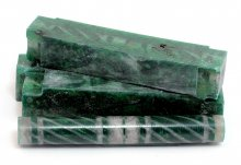 Tornadic Twists Resin Blank - Silver & Green