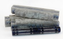 Wonder Windows Resin Blank - Dark Blue & Silver
