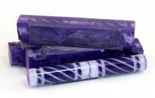 Tornadic Twists Resin Blank - Pearl White & Purple