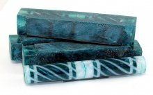 Tornadic Twists Resin Blank - Pearl White & Teal
