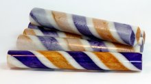 Sassy Stripes Blank - Purple Gold & White