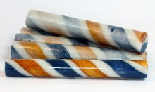 Sassy Stripes Blank - Royal Blue Gold & White
