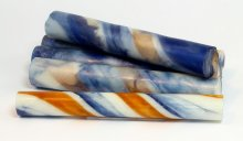Sassy Stripes Blank - Gold Blue-White & White