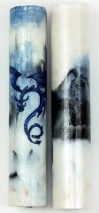 BBlue-Black Ice Dragon Rotacrylic Pen Blank