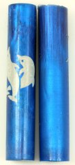 Intertwined Dolphins Rotacrylic pen blank