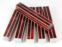 Resin Stripes - Dark Red with Pearl Stripes