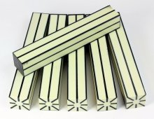 Resin Stripes - Ivory with Black Stripes