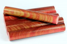 Terry's Dyed & Stabilized Crosscut Cherry Blanks - Dyed Red