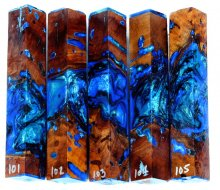 Wormy Madrone Burl Hybrid Pen Blanks #101-105RR