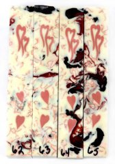 Two Hearts Scrolled Pen Blanks #62-65.