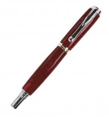 Jr. George Rollerball Pen Kit - Rhodium
