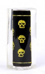 Thread Art  Pen Blanks - Hand Painted Gold Skulls - Lever Action