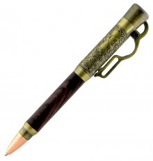 Lever Action Ballpoint Pen Kit - Antique Brass (Berea)