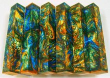 Lava Explosion Pen Blanks #19 - Mountain Mardi Gras