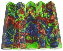 Lava Explosion Pen Blanks #100 - Planet Green