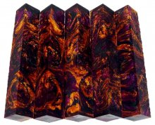 Lava Explosion Pen Blanks #68 - Moonlit Heather