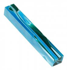 Aqua With Green Swirls Lava Bright Pen Blank