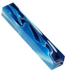 Dark & Light Blue Lava Bright Pen Blank