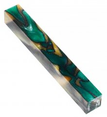 Green & Yellow Lava Bright Acrylic Pen Blank