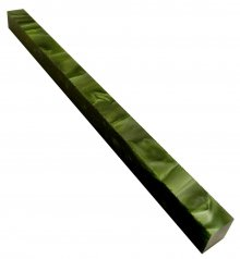Long Pen Blank - Lava Bright Silk Emerald 12 in.