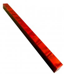 Long Pen Blank - Lava Bright Ruby Silk 12 in.