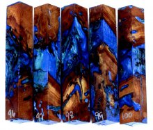 Wormy Madrone Burl Hybrid Pen Blanks #96-100RR