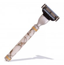 Majestic Mach3 Razor Handle Kit - Chrome & Ti Gold