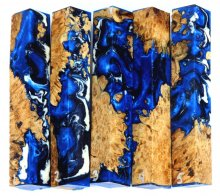 Maple Burl Hybrid Pen Blanks #01-05RR