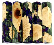 Maple Burl Hybrid Pen Blanks #16-20RR