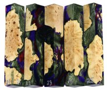 Maple Burl Hybrid Pen Blanks #21-25RR