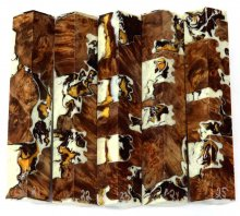 Maple Burl Hybrid Pen Blanks #21-25EE - Stabilized