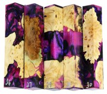 Maple Burl Hybrid Pen Blanks #26-30RR