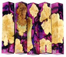 Maple Burl Hybrid Pen Blanks #31-35RR