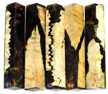 Spalted Maple Burl Hybrid Pen Blanks #41-45RR