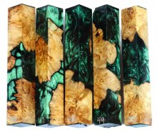 Spalted Maple Burl Hybrid Pen Blanks #46-50RR