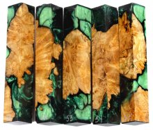 Spalted Maple Burl Hybrid Pen Blanks #51-55RR