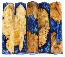 Spalted Maple Burl Hybrid Pen Blanks #56-60RR