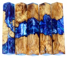 Spalted Maple Burl Hybrid Pen Blanks #61-65RR