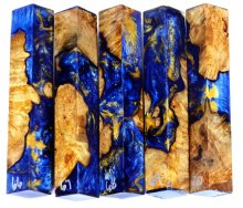 Spalted Maple Burl Hybrid Pen Blanks #66-70RR