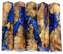 Spalted Maple Burl Hybrid Pen Blanks #71-75RR