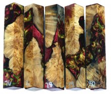 Spalted Maple Burl Hybrid Pen Blanks #76-80RR