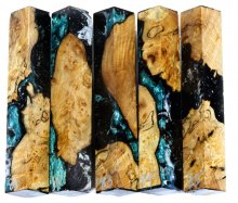 Spalted Maple Burl Hybrid Pen Blanks #81-85TT