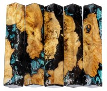 Spalted Maple Burl Hybrid Pen Blanks #86-90RR
