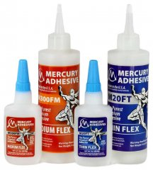 Mercury Adhesives Thin or Medium Flex CA Glue